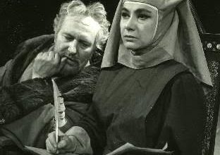 Bessenyei György (Galilei), Berek Kati (Virginia), Fotó: Keleti Éva (1962). Forrás: www.szinhaziadattar.hu